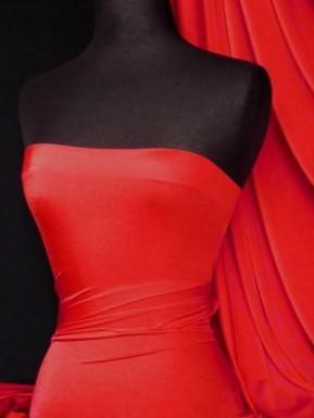 Red Sheen Lycra